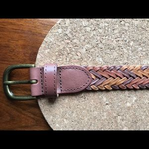 Leather Brown Braided Belt size Large